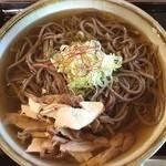 そば処 ヤマモ - 肉そば(冷)¥670  大盛り ¥150