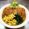 三平らーめん - 料理写真:ボリューム満点!カツカレーらーめん丼ぶり♪