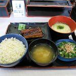 吉野家 - 料理写真:麦とろ鰻皿御膳(880円)