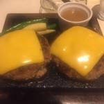 溶岩焼ダイニング bonbori 渋谷宮益坂店 - 牛100%ハンバーグステーキの溶岩焼 メガ盛り