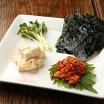 焼鳥 ブルース - チャンジャ・韓国のりセット