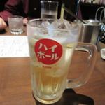 酒場氷炭 - 私以外は前の店で昼間から飲んでたんで乾杯はハイボールです。