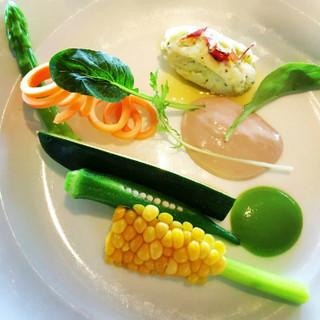 旬と鮮度にこだわった地元産の野菜を使用☆