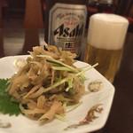 ajinochuukahagoromo - ザーサイは美食評価的には塩抜きし過ぎだが、この水準を好む層が主要顧客の好みなのだと判断