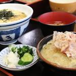 そば処あおき - 玉子丼セット(1,000円)