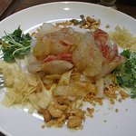 中国四川料理 秀峰 - 前菜は「鯛の刺身のゴマソースかけ」