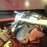 5202972 - 海女のてこね寿司・上1050円に入っている『うるめいわしのお造り』