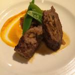 リストランテ リナッシェレ ドウジマ - ヨーロッパの茸を詰め込んだ牛肉のインボルティーニ