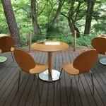 森のカフエKISEKI - テラス席で頂きました。