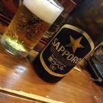 一刻屋 - 瓶ビール(SAPPORO黒) 550円