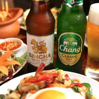 ガパオ食堂で美味しいタイビールを♪