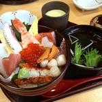 寿し処光本 - 特海鮮丼セット温泉卵つき 1680円