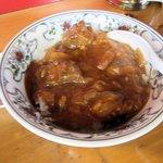 味の味噌一 - 日替わり御飯(トンポーロウ丼)2016.06.08