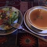 52031528 - サラダとスープ