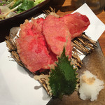 魚輝水産 - ショウガの天ぷら
