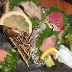 魚輝水産 - チラシのお造り1200円