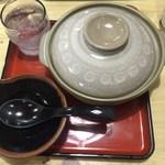 野村屋 - 「グリーンカレー耳うどん(温泉たまご入り)」900円!