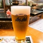 市場ずし - 生ビール