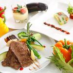 国産牛サーロインの焼しゃぶと夏野菜ランチ