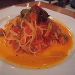 キッチンタク - サンマと茄子のトマトソース