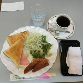 カフェプリメール - モーニングA,650円(税込)