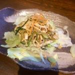 52041421 - 前菜です。豆腐の麺のサラダですね