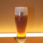 切麦や甚六 - まずは、生ビール