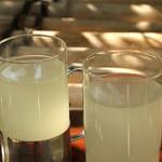 鉢の木 - ドリンク写真:ゆずジュース 550円(税込)高知県安芸郡馬路村のゆずとハチミツの自然な甘さ