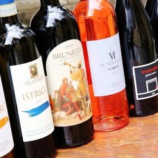 大人気!!希少なイタリアワインの飲み比べあり!