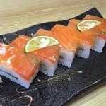 寿司一作 - サクラマスの押し寿司