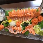 寿司一作 - 淡路島サクラマスの姿造り(期間限定)