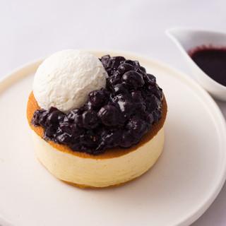 静岡産ブルーベリーのパンケーキ