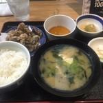 海おやじ - ランチのたこ天ぷら定食