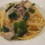IL BRACINO - パスタ マグロとホタテ貝柱、九条ネギの白ワインソーススパゲッティ