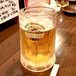 おりじん - 生ビール (390円) '15 12月下旬