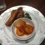 中国料理 龍鱗 - (ランチコース)二種の揚げ物と海老チリソース