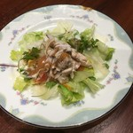 中国料理 龍鱗 - (ランチコース)蒸し鶏のサラダ