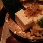 駿 - ざる豆腐(冷奴)【冷奴を自家製の天出汁で…】
