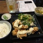 からあげ食堂 黒べえ - チキン南蛮定食〜! とハイボール(^ー^)ノ