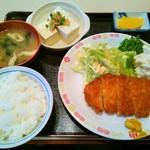 魚がし - とんかつロース定食