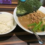ラーメン堂仙台っ子 - ひき肉ラーメン ライス付きで860円