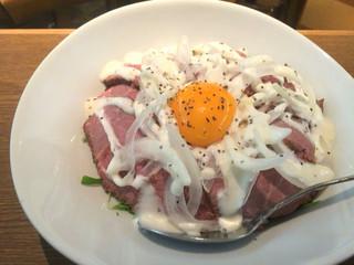 カフェ・バー・マルソウ - 【'16.6】ローストビーフ丼M