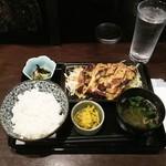 がらく - 若鶏のマスタード焼きランチ770円