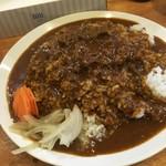 辛口Lab. - 肉入り、普通盛りの白米カレー