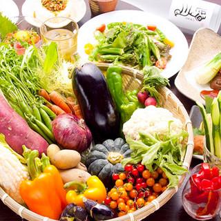 お肉と一緒に…こだわりの新鮮野菜も嬉しい食べ放題