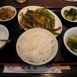 本格中華料理点心 純太楼 - 終日定食 980円 (メインは青椒肉絲を選択)