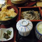 サガミ - 天丼セット(麺大盛り)