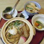 サガミ - 味噌煮込みとミニ天丼