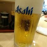 寿司 魚がし日本一 - 生ビール(500円)