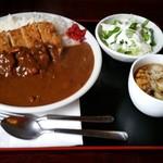 ラーメンレストラン花の館 - カツカレー(1100円)です。